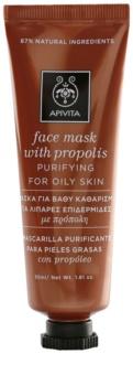 Apivita Express Beauty Propolis maschera detergente per pelli grasse