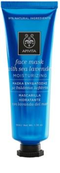 Apivita Express Beauty Sea Lavender nawilżająca maseczka na twarz z przeciwutleniaczami