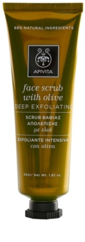 Apivita Express Beauty Olive tiefenwirksames Reinigungspeeling für das Gesicht