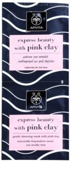 Apivita Express Beauty Pink Clay nježna maska za čišćenje lica