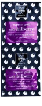 Apivita Express Gold Bilberry peelingová maska pre rozjasnenie pleti