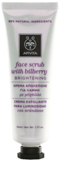 Apivita Express Gold Bilberry masque exfoliant pour une peau lumineuse