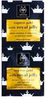 Apivita Express Gold Royal Jelly učvršćujuća maska za regeneraciju lica