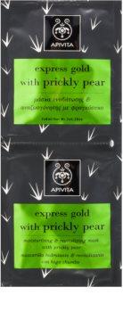 Apivita Express Beauty Prickly Pear feuchtigkeitsspendende und regenerierende Maske für das Gesicht