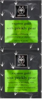 Apivita Express Beauty Prickly Pear maschera idratante e rivitalizzante per il viso