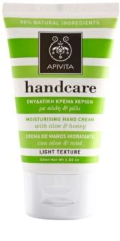 Apivita Hand Care Aloe & Honey leichte feuchtigkeitsspendende Creme für Hände und Fingernägel
