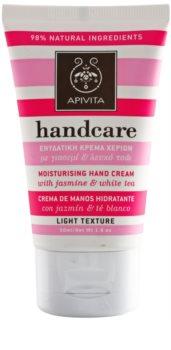 Apivita Hand Care Jasmine & White Tea crema hidratanta usoara de maini