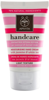 Apivita Hand Care Jasmine & White Tea könnyű hidratáló krém kézre