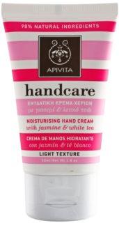 Apivita Hand Care Jasmine & White Tea легкий зволожуючий крем для рук