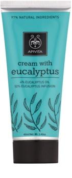 Apivita Herbal Eucalyptus crema para relajar los músculos y liberar las vías respiratorias en caso de resfriado
