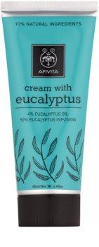 Apivita Herbal Eucalyptus κρέμα για ανακούφιση του πόνου των μυών και της αναπνευστικής οδού στο κρυολόγημα