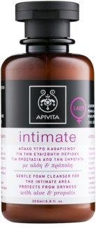 Apivita Intimate gel suave de limpeza espumoso para higiene íntima