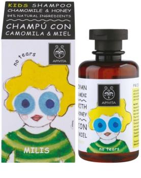 Apivita Kids Chamomile & Honey Kalmerende Shampoo  voor Kinderen