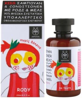 Apivita Kids Pomegranate & Honey Shampoo und Conditioner 2 in 1 für Kinder