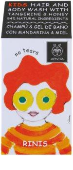 Apivita Kids Tangerine & Honey champú y gel de ducha 2 en 1 para niños