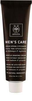 Apivita Men's Care Balsam & Propolis делікатний крем для гоління