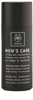 Apivita Men's Care Cedar & Propolis Gel Crème  met Hydraterende Werking