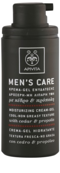 Apivita Men's Care Cedar & Propolis gel-crème pour un effet naturel