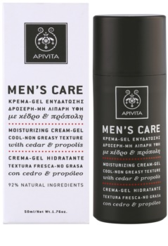 Apivita Men's Care Cedar & Propolis Gel-Creme mit feuchtigkeitsspendender Wirkung