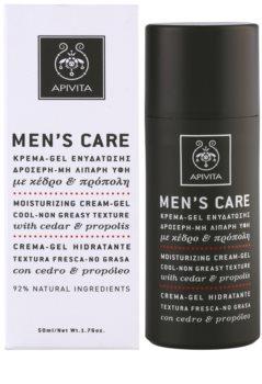 Apivita Men's Care Cedar & Propolis gélový krém s hydratačným účinkom
