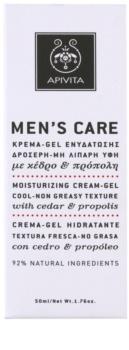 Apivita Men's Care Cedar & Propolis gel-crème effet hydratant
