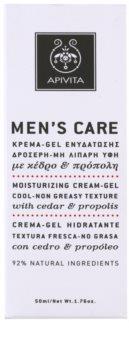 Apivita Men's Care Cedar & Propolis gel krema s hidratacijskim učinkom