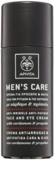 Apivita Men's Care Cardamom & Propolis Anti-Rimpel Crème  voor Gezicht en Ogen