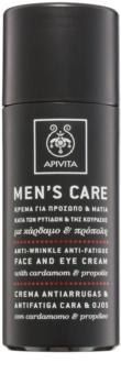 Apivita Men's Care Cardamom & Propolis crema antirughe per viso e occhi
