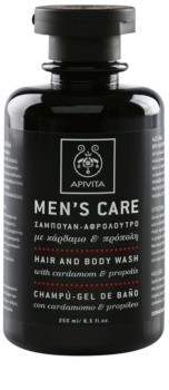 Apivita Men's Care Cardamom & Propolis шампоан и душ гел 2 в 1