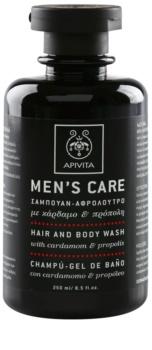 Apivita Men's Care Cardamom & Propolis szampon i żel pod prysznic 2 w 1