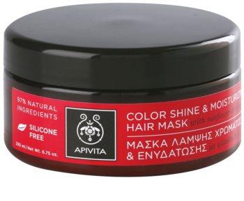 Apivita Holistic Hair Care Sunflower & Honey hydratační a rozjasňující maska pro barvené vlasy