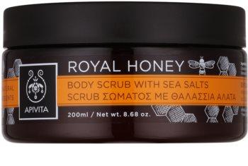 Apivita Royal Honey exfoliante corporal con sal marina