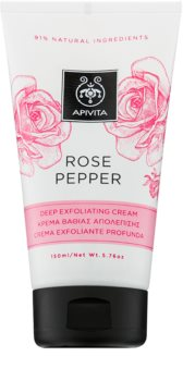 Apivita Rose Pepper exfoliante limpiador