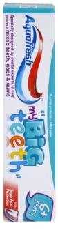 Aquafresh Big Teeth pasta de dentes para crianças