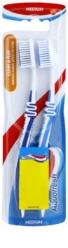 Aquafresh Clean & Flex medium fogkefék 2 db