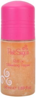 Aquolina Pink Sugar deodorante roll-on per donna 50 ml  con glitter