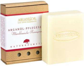 Argand'Or Care jabón de argán con olor a rosa marroquí