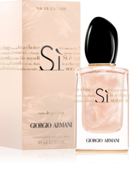 Armani Sì  Nacre Edition eau de parfum per donna 50 ml edizione limitata
