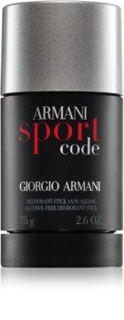 Armani Code Sport dezodorant w sztyfcie dla mężczyzn 75 ml