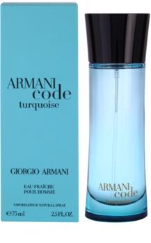 Armani Code Turquoise Eau de Toilette para homens 75 ml