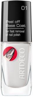 Artdeco Peel off Base Coat прозора база для глітерних лаків для нігтів