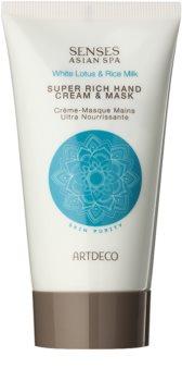 Artdeco Super Rich Hand Cream & Mask creme e máscara de regeneração profunda para mãos
