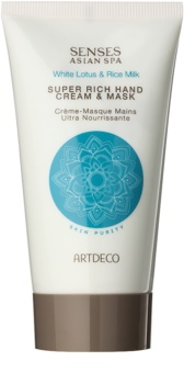 Artdeco Super Rich Hand Cream & Mask Deep Regenerating Cream and Serum-in-mask for Hands