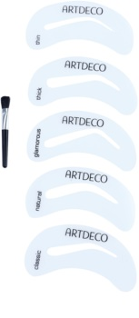 Artdeco Eye Brow Stencil with Brush Applicator pędzelek do brwi z szablonami