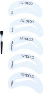 Artdeco Eye Brow Stencil пензлик з шаблонами для корекції та моделювання форми брів