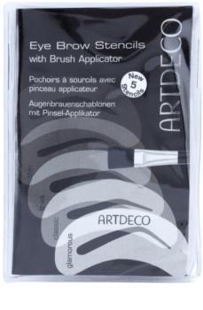 Artdeco Eye Brow Stencil with Brush Applicator пензлик з шаблонами для корекції та моделювання форми брів