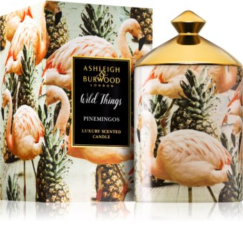Ashleigh & Burwood London Wild Things Pinemingos scented candle (Coconut & Lychee) 320 g