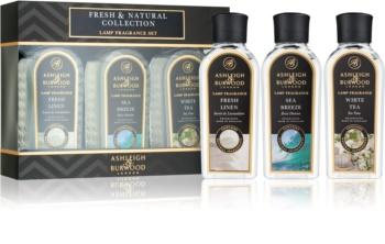 Ashleigh & Burwood London Lamp Fragrance Fresh & Natural ajándékszett II. Fresh Lilen, Sea Breeze, White Tea