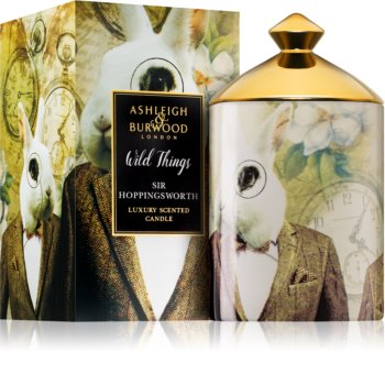 Ashleigh & Burwood London Wild Things Sir Hoppingsworth dišeča sveča  320 g  (Cognac & Leather)