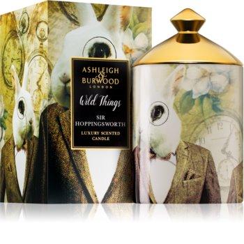 Ashleigh & Burwood London Wild Things Sir Hoppingsworth illatos gyertya  320 g  (Cognac & Leather)